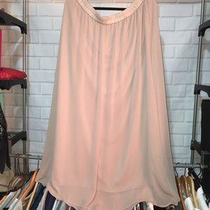 Old navy Long sheer blush skirt